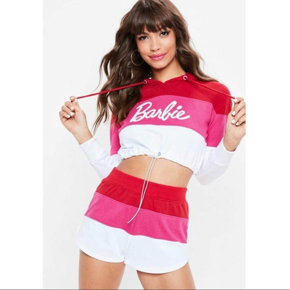 9c3fbb21413 Missguided Tops | X Barbie Crop Hoodie | Poshmark